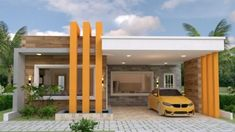 Four Bedroom One Storey House Design with Roof Deck - Cool House Concepts Concept Architecture, Amazing Architecture, Residential Architecture, Pavilion Architecture, Japanese Architecture, Sustainable Architecture, Modern Bungalow House, Bungalow Exterior, One Storey House