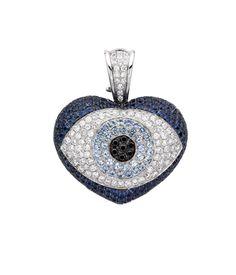 Welcome to Theo Fennell Evil Eye Jewelry, Heart Jewelry, Sapphire Diamond, Black Diamond, Pale Blue Eyes, Evil Eye Art, Turkish Eye, Hamsa, Fasion