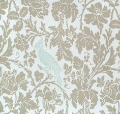 MBK Blue Bird Linen and White - Fabrics - HomeFabrics