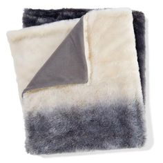 Reversible Faux Fur Throw - Ombre
