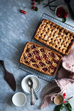 These lattice crust cherry slab pies are both gorgeous and delicious. A win-win!
