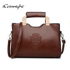 iCeinnight 2017 women handbags vintage shoulder bags high quality pu leather messenger bags long belt bolsa feminina dollar