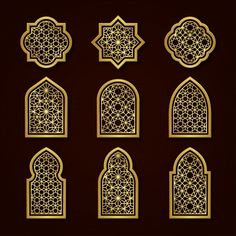 Islamic Art Pattern, Arabic Pattern, Pattern Art, Vector Pattern, Mode Batik, Happy Islamic New Year, Arabian Art, Arabesque Pattern, Moroccan Pattern