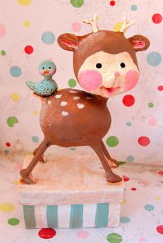 *PAPER CLAY ~ spring fawn by thepolkadotpixie, via Flickr