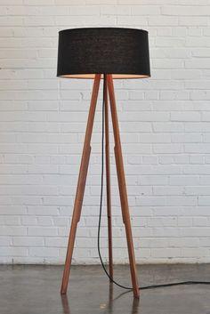 Solstice Lamp (black/black) | Cargoh by designer @Maria Canavello Mrasek Page #lighting #wood #floorlamp $695