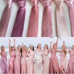 Que tal essa paleta rosa? Rose Bridesmaid Dresses, Wedding Bridesmaids, Summer Wedding Colors, Rustic Wedding Dresses, Brunch Wedding, Bridal Shower Rustic, Kirchen, Maid Of Honor, Marie