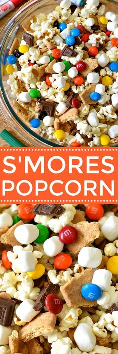 Popcorn and Fruit Shoot juice drinks - 2 simple ways to celebrate childhood and let kids just be kids!S'mores Popcorn and Fruit Shoot juice drinks - 2 simple ways to celebrate childhood and let kids just be kids! Snack Mix Recipes, Popcorn Recipes, Yummy Snacks, Delicious Desserts, Yummy Food, Simple Snack Recipes, Kids Baking Recipes, Summer Snack Recipes, Healthy Movie Snacks