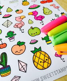 One of my most favorite sticker sheets I've ever colored.  #SweetStampShop #SharpieMarker #ColorEverything