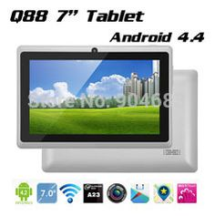 Купить товарДешево Q88 A23 двухъядерных или а33 четырехъядерный планшет PC 7 дюймов емкостный экран Android 4.4 планшет 512 м 8 г Allwinner а33 дети планшет в категории Планшетные компьютерына AliExpress.  Дешевые Q88 A23 Двухъядерный или А33 Quad Core Tablet PC  7 7-дюймовый емкостный экран Android 4.4 таблетки 512 М 8 г о