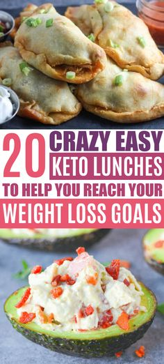 These easy keto lunches will help you crush your weight loss on your keto diet!! Now I have the best keto lunch recipes to make!!! Which keto lunch idea will you try first?? Pinning!