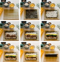 kimbap = yummmmmy! =) and exactly the way my mommy taught me how to make it! best thing is you can vary the ingredients to whatever you like!