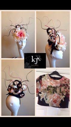 A oversized flower and quill custom headpiece #millinery #kjmillinery #bespoke #handmade