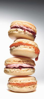 These may not be cakes, but we find French macaroons with raspberry-rose buttercream equally worthy of our board.