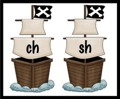 "Pirate Ship Theme ""ch/sh"" sort  (free)"