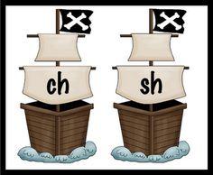 """Pirate Ship Theme """"ch/sh"""" sort  (free)"""