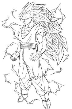 dragon ball z coloring pages goku super saiyan