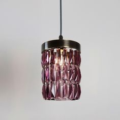 An unusual and striking crystal that will bring colour to your room during the day and fill it with a warm glow when switched on at night. $177