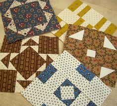 civil war quilt blocks..love the fabrics and blocks from this era