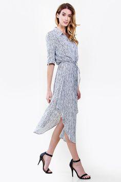 Lisa Stripe Shirt Dress