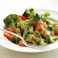Orange-Sauced Broccoli & Peppers - Broccoli is an excellent source of vitamin C. Four ingredients in this recipe make the list of Cleveland Clinic's top 40 power foods. Serve this as a side dish or spoon over rice for a quick, vegetarian main dish.