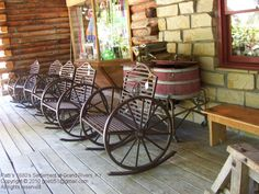 Bon Wagon Wheel Rocker Chair | 8534 Jefferson Ave | Pinterest | Wagon Wheels,  Cabin And Woods