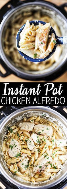 Instant Pot Chicken Alfredo Pasta Instant Pot Chicken Alfredo Pasta (next time add less broth and cook shorter time. Also cook broccoli on steaming rack high setting) More from my site Instant Pot Chicken Parm Pastta Pollo Alfredo, Yummy Recipes, Crockpot Recipes, Cooking Recipes, Healthy Recipes, Recipies, Cooking Games, Simple Delicious Recipes, Gastronomia