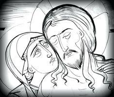 Resultado de imagem para atividade arte bizantina Jesus E Maria, Religious Icons, Art Icon, Orthodox Icons, Mexican Art, Drawing Lessons, Pyrography, Line Drawing, Painting Inspiration
