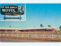1950's Old Cars Rip Van Winkle Motel Warrenton Virginia VA