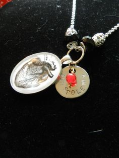 Heart pendant with message  stainless steel by LoveLsJewels, $10.00