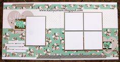 National Scrapbook Month-Live Beautifully 2-page layout. Order your kit today! kathycorson.ctmh.com