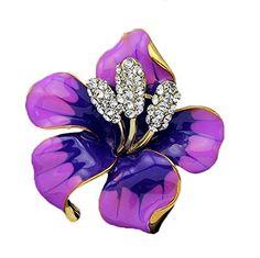 niceEshop(TM) Damen Modern Rose Blume Brosche Stifte - http://schmuckhaus.online/niceeshop/lila-niceeshop-tm-damen-modern-rose-blume-brosche