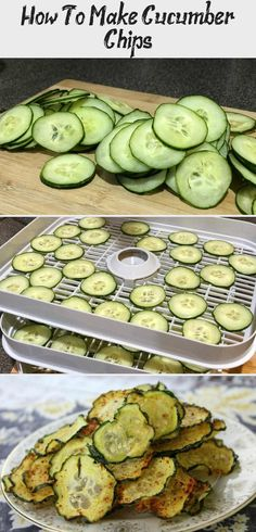 Cucumber Chips are easy to make and are delicious and healthy at the same time. They are the perfect snack for kids and adults. Cucumber Chips are easy to make and are delicious and healthy at the same time. They are the perfect snack for kids and adults. Healthy Travel Snacks, Healthy Snacks To Make, Healthy Toddler Snacks, Healthy Snack Options, Vegan Snacks, Healthy Recipes, Easy Smoothie Recipes, Healthy Smoothies, Cucumber Chips