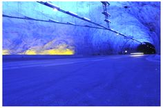 Laerdals tunnel in Norway, the world's longest road tunnel