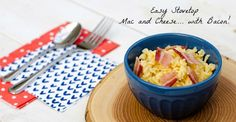 Easy Stovetop Mac and Cheese with Bacon #15MinuteSuppers