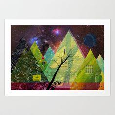 Wonder Wood Dream Forest Pyramids Art Print by Marko Köppe - $19.99