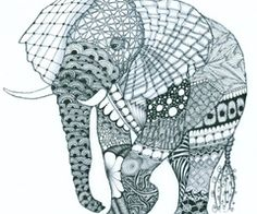 Another very cool idea for an elephant tattoo...could fill in the design..