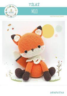 Amigurumi Fox / Tarturumies Crochet Pattern PDF Milo the Fox Batman Amigurumi, Amigurumi Fox, Amigurumi Patterns, Crochet Patterns, Double Crochet Decrease, Half Double Crochet, Single Crochet, Fox Toys, Unicorn Doll