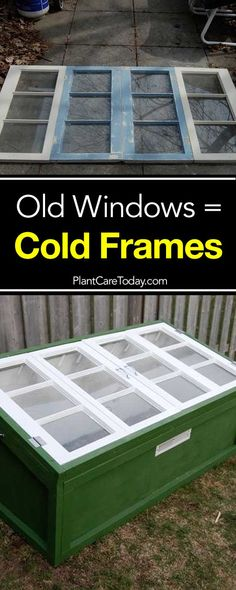 How To Urban Garden How To Build A Cold Frame Using Old Windows - The use of cold frames allow gardeners to extend the growing season. Before we share how to build a cold frame from old windows let's look at. Growing Herbs, Growing Vegetables, Vegetables Garden, Veg Garden, Veggies, Gardening For Beginners, Gardening Tips, Cold Frame Gardening, How To Make Compost