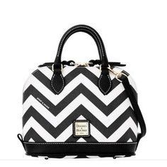 I just added this to my closet on Poshmark: DOONEY & BOURKE Black Chevron Bitsy Bag. Price: $115 Size: OS