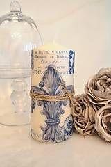 Svietidlá a sviečky - Vintage sviečka - 5996314_