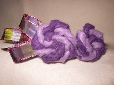 Purple swirl flower headband by SewVivid on Etsy, £5.00