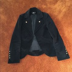 Pre-owned Luii Brand Jacket with Brass Buttons - 100% Polyester - Luii Jackets & Coats