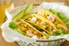 Shrimp Tacos with Fresh Pineapple Salsa