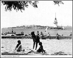 OĞUZ TOPOĞLU : 1937 senesi kızkulesi ve üsküdar salacak plajı fot...