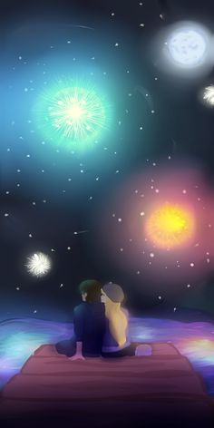Fireworks.  this is supposed to be Modern!Jack and Rapunzel