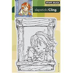 Penny Black Slapstick/Cling Rubber Stamp Bird Talk