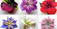 I've recently been felting flowers in preparation for 'The Felted Garden' flower workshops - the aim was to create flowers with different ...