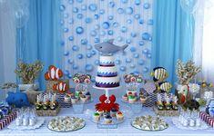 sea animals birthday party http://babies.constancezahn.com/festinha-fundo-mar/