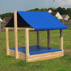Sandbox - Cedar Sandbox with Shade Roof
