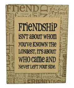 Take a look at this Yellow 'Friendship' Box Sign by The Hearthside Collection on #zulily today!
